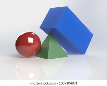 CAD Colored Shapes