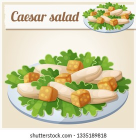 Caesar salad. Detailed Icon. Series of food and drink and ingredients for cooking.