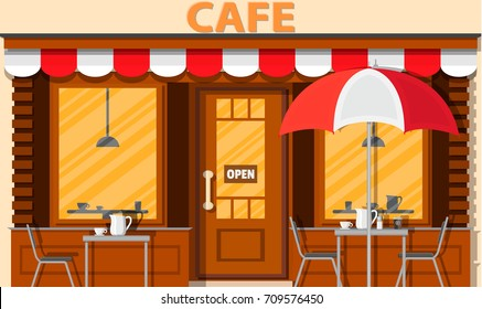 Cafe 窓際 テーブルのイラスト素材画像ベクター画像 Shutterstock