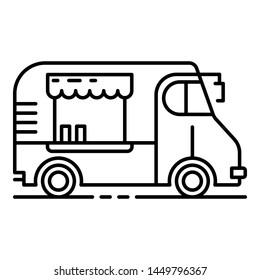 Cafeteria vehicle icon. Outline cafeteria vehicle icon for web design isolated on white background