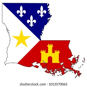 Cajun Louisiana State Shape