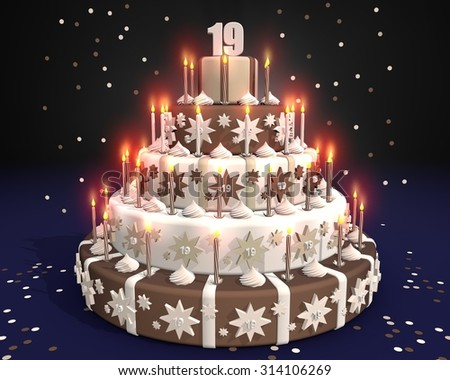 Cake With Burning Candles