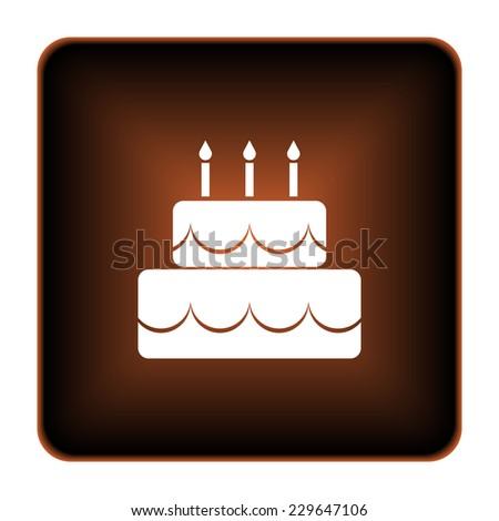 Cake Icon Internet Button On White Stock Illustration 229647106
