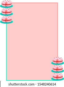 Cake Page Border Candy Colors