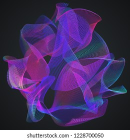Calabi-Yau manifold. Structure of extra dimensions of space in String theory. 3D rendered illustration.