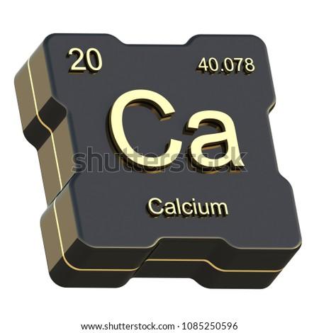 Calcium Element Symbol Periodic Table On Stock Illustration
