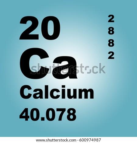Calcium Periodic Table Elements Stock Illustration 600974987