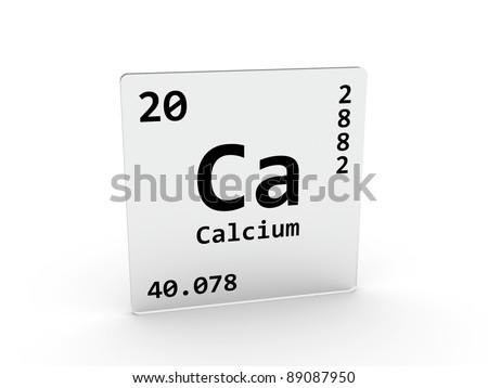 Calcium Symbol Ca Element Periodic Table Stock Illustration 89087950