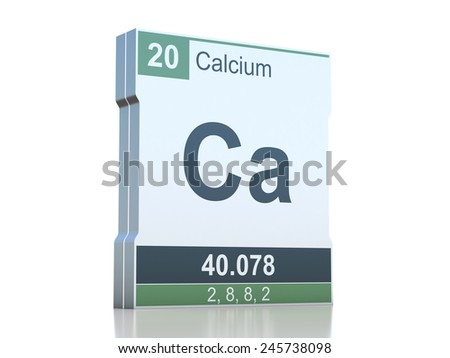 Calcium Symbol Element Periodic Table Stock Illustration 245738098