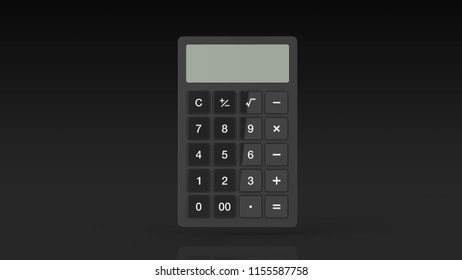 calculator black 3d rendering