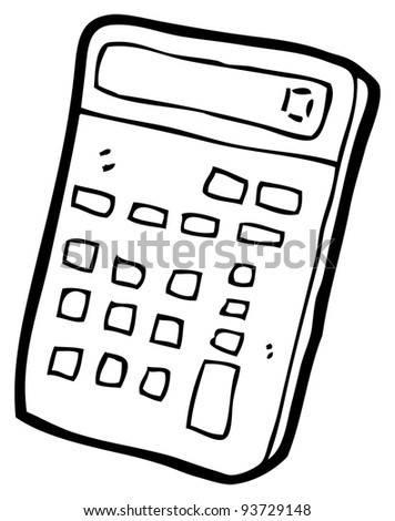 Calculator Cartoon Raster Version Stock Illustration 93729148