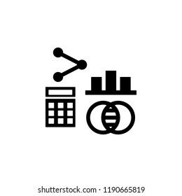 calculator, mathematical icon. Element of genetics and bioengineering icon. Premium quality graphic design icon. Signs and symbols collection icon for websites, web design, mobil