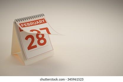 calendar 28 february