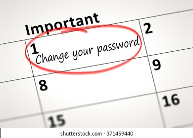 calendar detail shows change your password every month