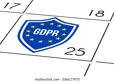 calendar grid 25 day with gdpr shield