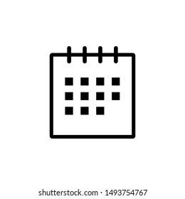 calendar icon design template illustrasyon