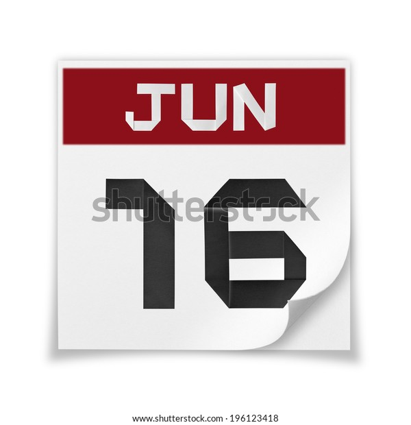 Calendar of June 16, on a white background.