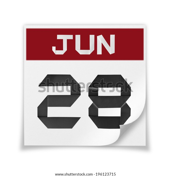 Calendar of June 28, on a white background.