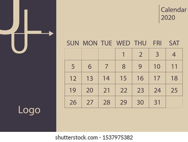 Calendar year 2020, July month.