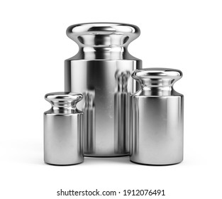 Calibration weights isolated on white - 3d rendering