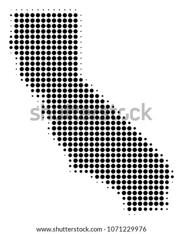 California Map Icon.Royalty Free Stock Illustration Of California Map Halftone Raster