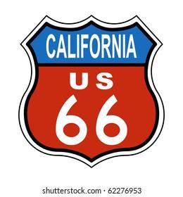 California Route US 66 Sign