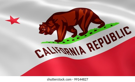 Californian flag in the wind.
