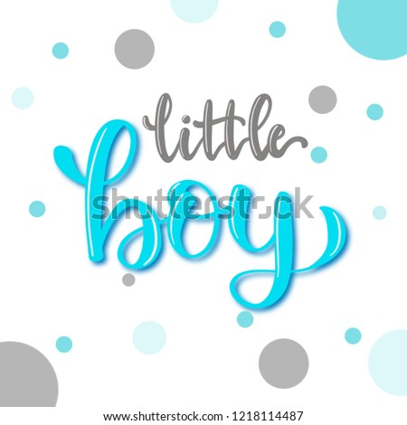 Calligraphy Font Little Boy Cute Baby Stock Illustration Royalty