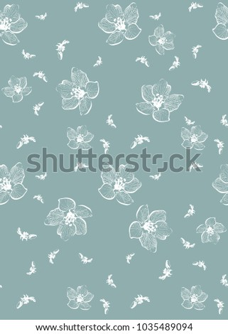 Calm Design New Minimalism Style Flowers Stock Illustration