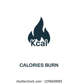 Calories Burn icon. Premium style design from fitness collection. Pixel perfect calories burn icon for web design, apps, software, printing usage.