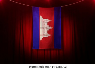 Cambodia Flag, Flag design and presentation study - 3D Rendering