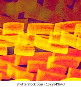 Camel Shibori Grunge Lines. Fuchsia Paintbrush Hipster Marker Stripes. Orange Lavender Bright Juicy Doodle Marker Stripes. Fuchsia Hot Pink Multicolor Hand Drawn Stroke.