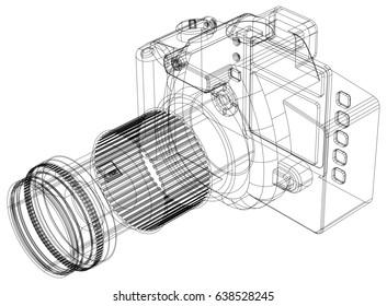 Camera blueprint – 3D perspective