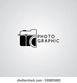 camera photography logo template