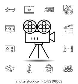 camera, video, cinema icon. Simple thin line, outline illustration element of Cinema icons set for UI and UX, website or mobile application