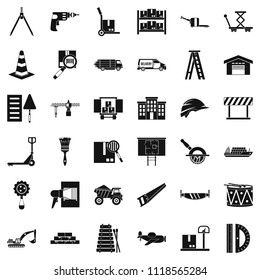 Camion icons set. Simple set of 36 camion icons for web isolated on white background