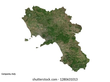 Campania, Italy Map (3D illustration)