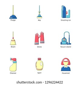 Campsite icons set. Flat set of 9 campsite icons for web isolated on white background