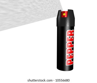 A can of pepper spray for self defense.
