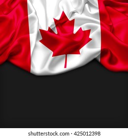Canada Abstract flag and black background