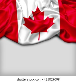 Canada Abstract flag and Plain background