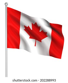 Canada flag , computer generated image. 3d render.