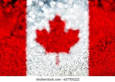 Canada flag glitter party celebration background