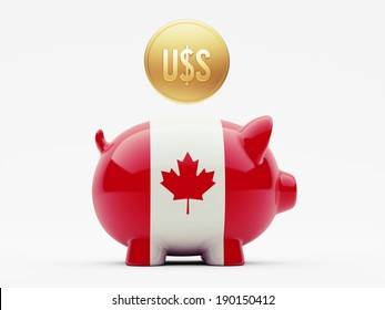 Canada High Resolution Dollars Concept