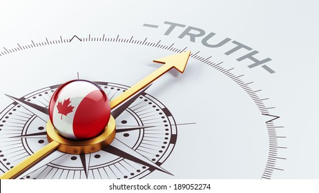Canada High Resolution Truth Concept