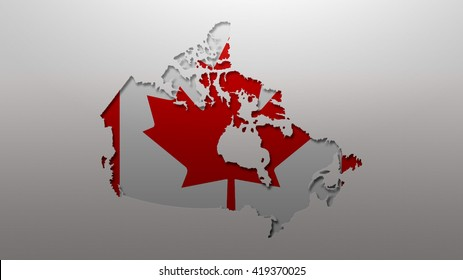 Canada Map Flag Style Wallpaper Background Stock Illustration ...