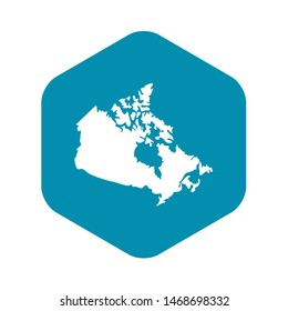 Canada map icon. Simple illustration of Canada map icon for web