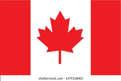 Canada national flag Official state symbol of country.