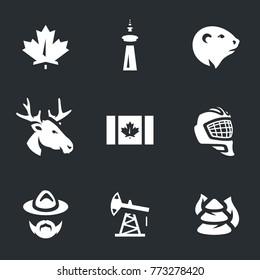 Canada Symbols Icons.