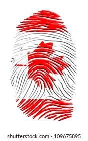 Canadian identity finger print
